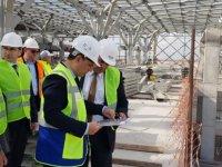 Atakan, Yeni Ercan Havalimanı inşaatında incelemelerde bulundu