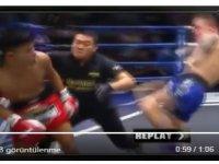 Muay Thai dövüşçüsü, rakiple birlikte hakemi de nakavt etti (video)