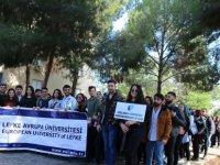 LAÜ'den kadına karşı şiddete farkındalık yürüyüşüne destek