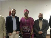 Çeler Burkina Faso'da mevkidaşı Marchal Laurance'la görüştü