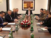 Apa'da KKTC ve Pakistan heyetleri arasında görüşme...