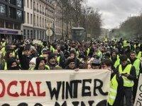 Belçika'da 'da Sarı Yeleklilerin' Protestosu Başladı