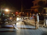 Mağusa'da trafik kazası elektriksiz bıraktı!