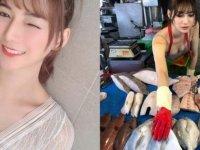 Tayvan'da bir balık satıcısı, güzelliğiyle herkesi hayran bıraktı (Video)