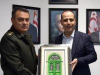 Harmancı 14. Zırhlı Tugay Komutanı Murat Dirican'ı kabul etti