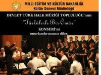 """""""Türkülerle Bir Ömür"""" konseri yarın akşam gerçekleştirilecek"""