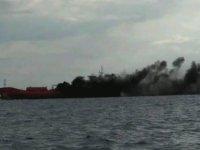 Larnaka açıklarında demirli bulunan yük gemisinde patlama...