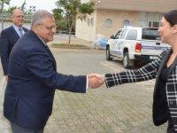 İçişleri Bakanı Ayşegül Baybars, DAÜ Rektörü Prof. Dr. Necdet Osam'ı ziyaret etti.