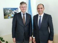 Özersay New York'ta BM Genel Sekreter Yardımcısı Lacroıx ile görüştü