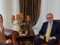 Akıncı, Fransa Şövalye Devlet Nişanı Sahibi Dr. Ersoy'la görüştü
