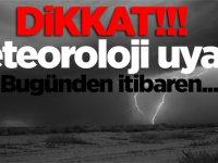 Meteoroloji Dairesi'nden yağış ve fırtına uyarısı geldi