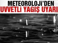 Meteoroloji Dairesi kuvvetli sağanak uyarısında bulundu