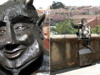 """İspanya'da """"fazla sevimli"""" görünen şeytan heykeline tepki"""