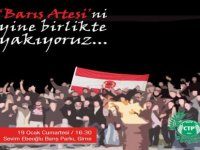 CTP Gençlik Örgütü Girne İlçesi barış ateşi yakacak