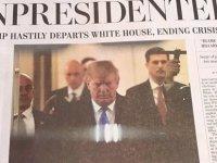 Washington DC'yi sallayan '8 sütuna manşet': Trump istifa edip Kırım'a kaçtı