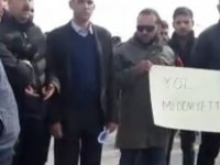 Gönyeli Üst Geçidinde yolun kapalı olmasını protesto edildi