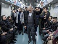 TBMM Başkanı Yıldırım, Marmaray'a bindi