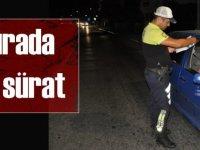 Trafikte ceza yağdı: Sürat yine ilk sırada