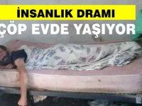 Kuzey Kıbrıs'ta olmaz demeyin! Engelli vatandaş çöp evde yaşıyor
