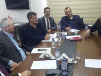 Kıb-Tek yetkilileri kurumu ziyaret eden YDP Başkanı Arıklı ile görüştü
