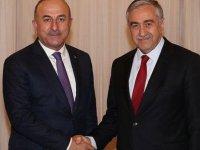 Akıncı, TC Dışişleri Bakanı Çavuşoğlu'nu kabul etti