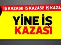 Alayköy'de bugün sabah meydana gelen iş kazasında 1 kişi yaralandı