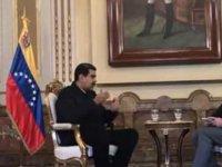 Venezuela Devlet Başkanı Maduro, Cüneyt Özdemir'in sorusu karşısında ara vermek istedi
