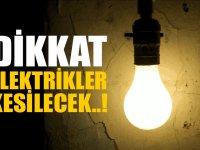 Dikkat ! Elektrik kesintisi: Paşaköy, Turunçlu ve Kurudere
