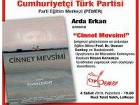 """""""Cinnet Mevsimi"""" Naci Talat Vakfı'nda gösterilecek"""