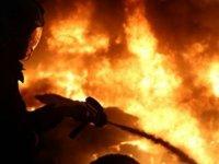 Düzova'daki yangın hasara neden oldu