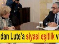 Akıncı'dan Lute'a  siyasi eşitlik vurgusu