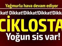 Polis Sürücüleri Ciklos Bölgesindeki Yoğun Sis Konusunda Uyardı