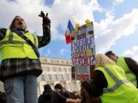 Sarı Yelekler 23. haftada 'ulusal birlik' söylemine karşı yine sokaklarda