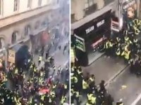 Lyon'da sarı yelekliler birbiriyle çatıştı: Bir eylemcinin eli koptu