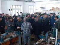 KTÖS Kıbrıs'ın güneyinde Lefkoşa Mesleki Teknik Lisesi'ni Ziyaret Etti