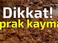 Dipkarpaz - Zaferburnu Anayolu nda toprak kayması