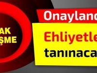 Sondakika:Cumhuriyet Meclisi onayladı; Ehliyetler tanınacak!