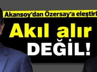 """Asım Akansoy'dan Kudret Özersay'a """"Ne bizi ne Kıbrıslı Rumlar'ı ne Türkiye'yi ne de dünyayı aldatmayınız"""""""