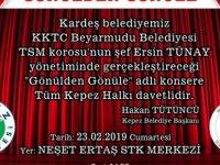 Türk Sanat Müziği (TSM) Korosu Kepez'de konser verecek.