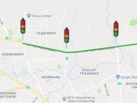 DR. Fazıl Küçük bulvarı üzerindeki trafik ışıklarında yeşil dalga sistemine geçildi