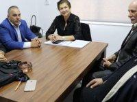 DP Genel Sekreteri Özcafer, Bay-Sen heyetini kabul etti