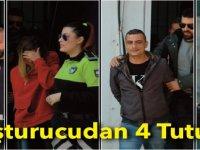 Uyuşturucu Davasında 4 Zanlı Tutuklandı