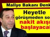 Denktaş: Türkiye'den gelen heyetle görüşmedern sonra nakit akışı başlayacak