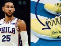 NBA yıldızı, 'Yumurta Çocuk' yazılı ayakkabıyla oynadı