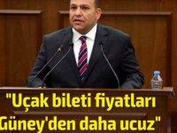 """Ulaştırma Bakanı Atakan: """"Uçak bileti fiyatları Güney'den daha ucuz"""""""