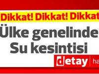 Girne Belediyesi'nden su kesintisi uyarısı