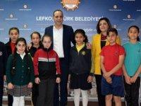 Lefkoşa ilkokullarından çocuklar LTB'yi ziyaret etti