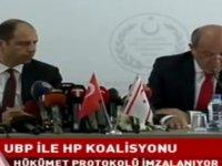 UBP HP Hükümet Protokolü imzalanıyor (CANLI)