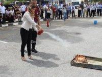 DAÜ personeli yangın tatbikatı hakkında bilgilendirildi