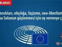 YKP,Avrupa Solunun güçlenmesi için oy vermeye çağırır!